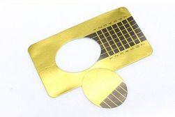 Adhezivní šablona pro aplikaci gelových a akrylových nehtů