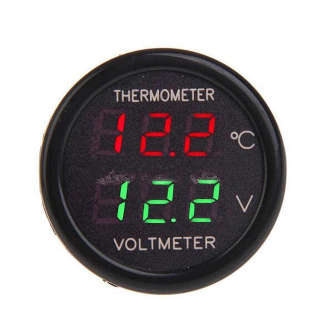 Araç çakmak voltometre termometre 1