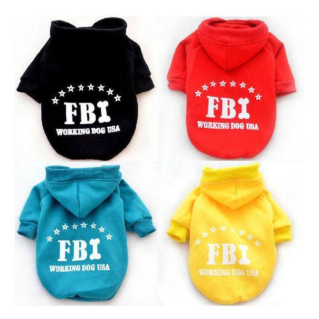 Ubranko dla piesków - bluza z napisem FBI 1