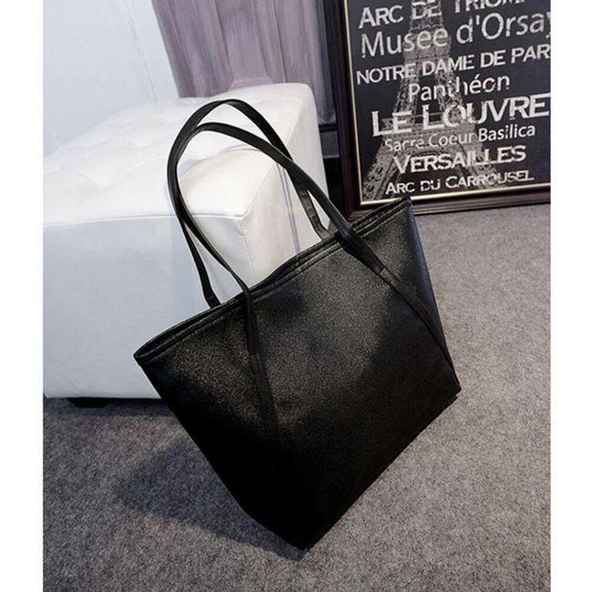 Ženska elegantna ramena torbica - črna 1