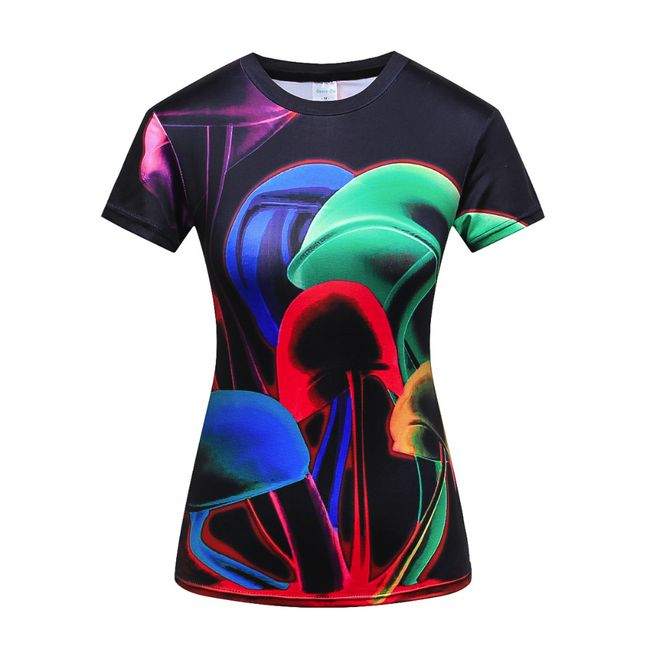 Női fitnesz trikó színes  - 6 változat