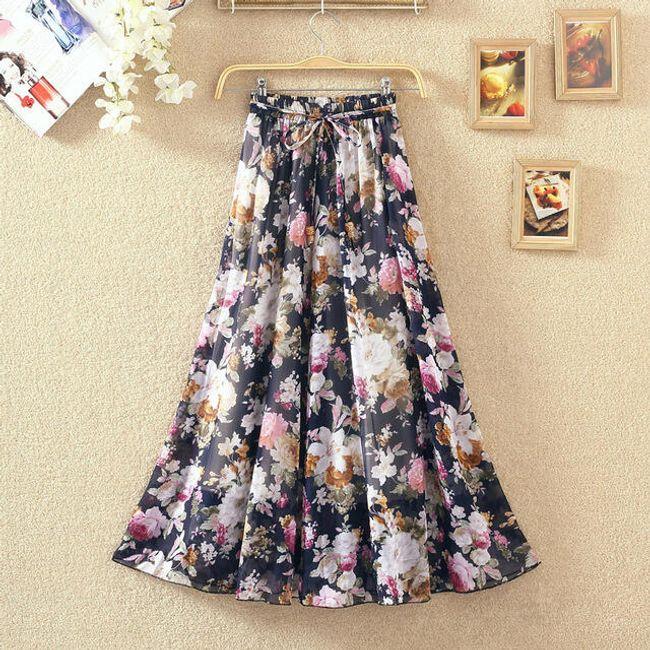 Dlouhá bohémská sukně s květinovými motivy - 7 1