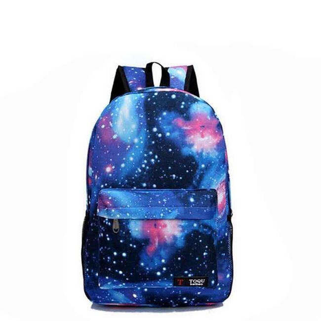 Batoh s potiskem galaxie - 3 barvy 1