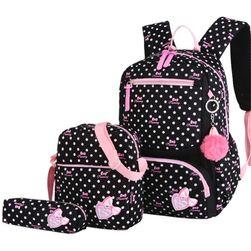 Nahrbtnik s torbico in etuijem za dekleta DS48