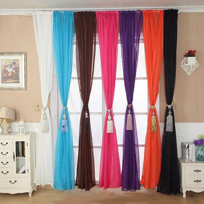 Zavese iz tila različnih barv 1