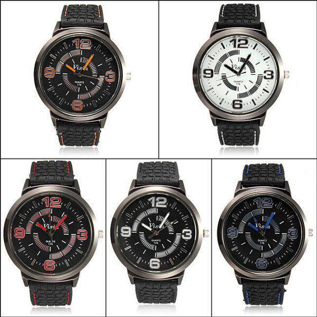 Męski zegarek z silikonowym paskiem - 5 kolorów 1