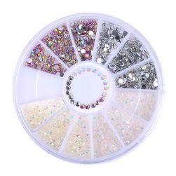 Dekorativni kamenčići za nokte - set sa više boje