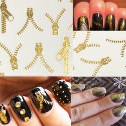 20 sztuk  dekoracji na paznokcie w designu suwaka - kolor złoty