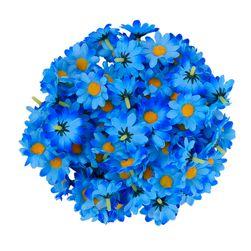 Umělé dekorační květy - 100 kusů