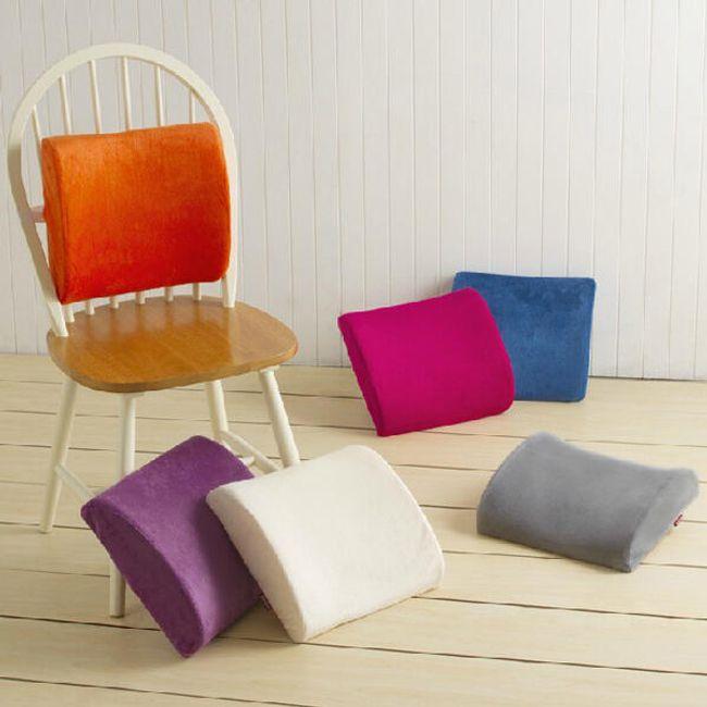 Плюшевая ортопедическая подушка под спину- 7 цветов 1