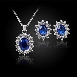 Sada šperkov v modrom prevedení