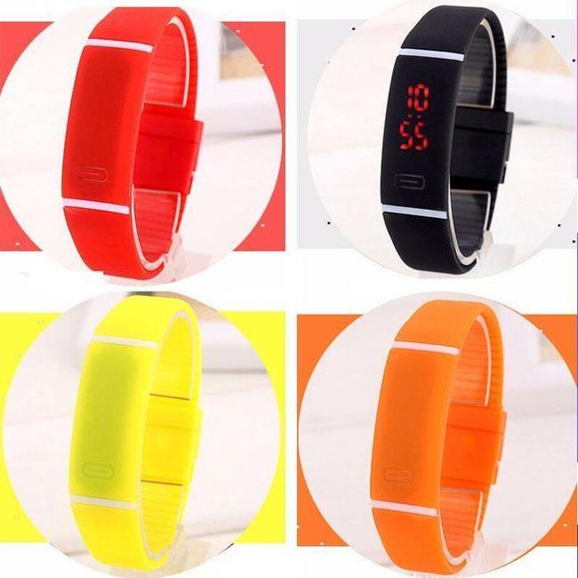 Silikonové LED hodinky pro sportovní nadšence 1