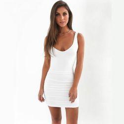 Csábító ruha csupasz hátul - 6 szín Fehér-méret 2