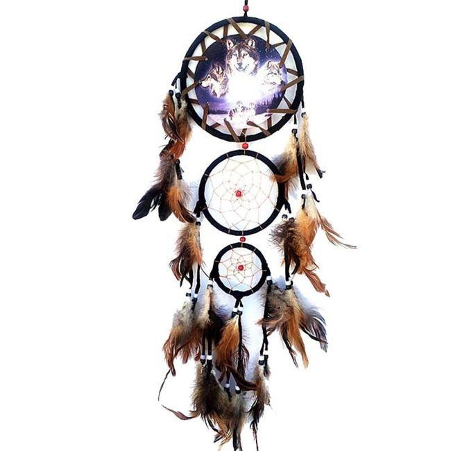 Bogato okrašeni indijanski lovilec sanj 1