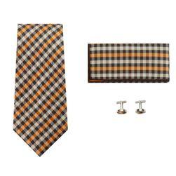Sada pro muže - kravata, kapesník, knoflíčky