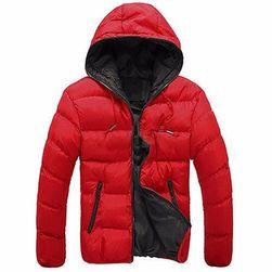 Férfi könnyű kabát Santo kapucnival  Piros - méret XL